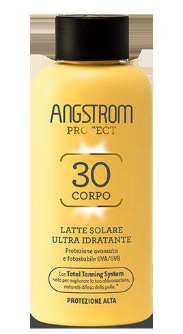 Angstrom latte solare ultra idratante protezione 30 200ml