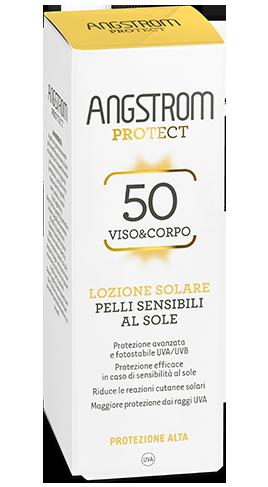 Lozione solare pelli sensibili protezione 50 100 ml